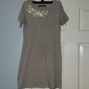 Abercrombie & Fitch striped dress, embroidered